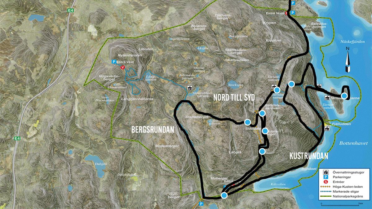 skuleberget karta volontär | Höga Kusten Winter Trail skuleberget karta